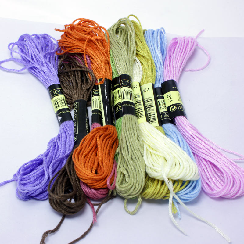 Cross Stitch threads    The Unique Style 10 Cross Stitch Cotton Embroidery Thread Floss Sewing Skeins Craft Dofferent Colors|cotton embroidery thread|embroidery thread|stitch thread - AliExpress