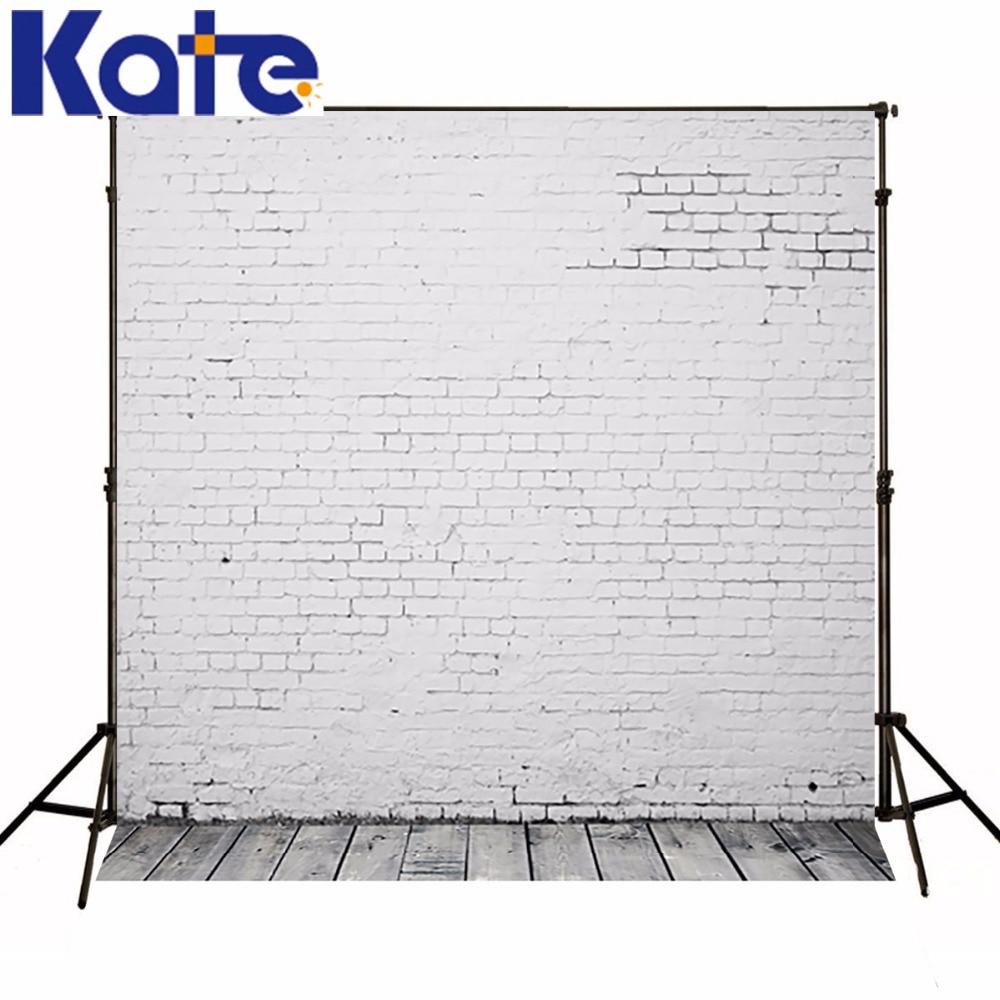 ФОТО Wood Photography Background White Brick Grey Floor Photography Baby Backdrop Customize Camera Fotografica
