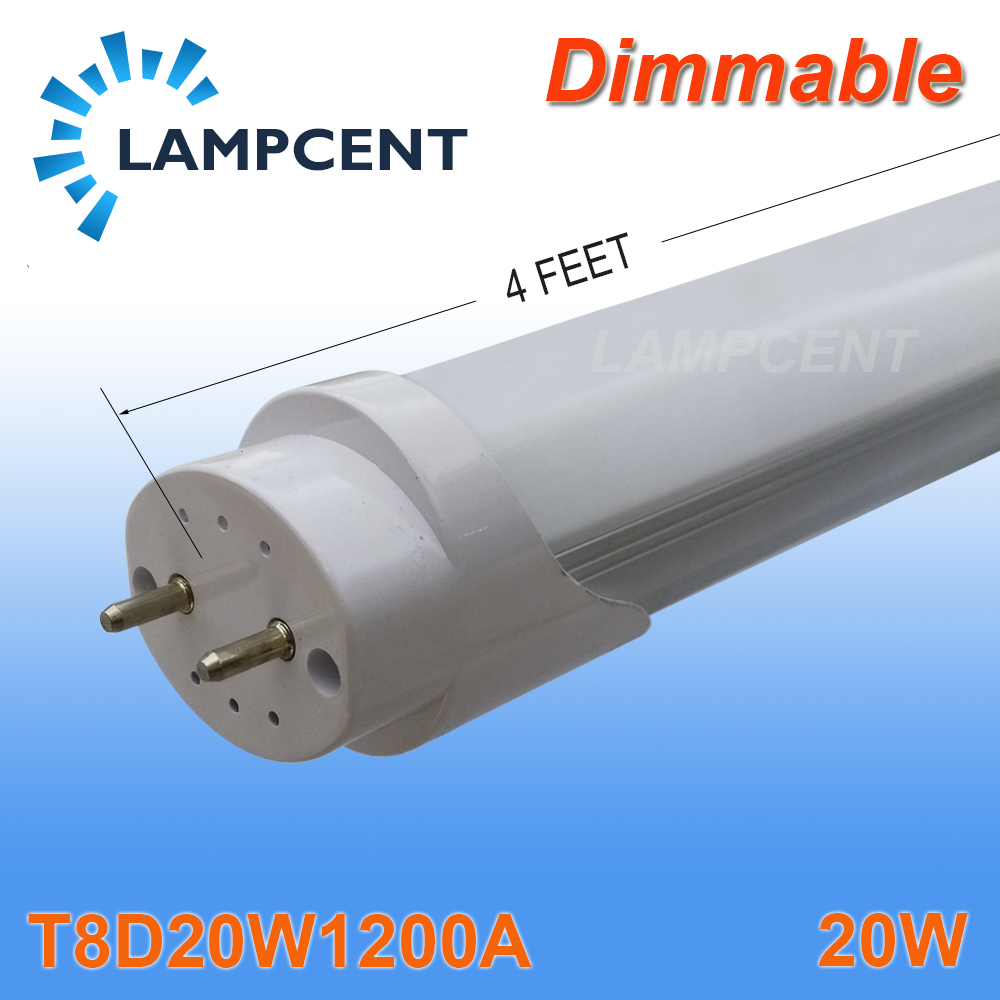 20/Pack Dimmable LED Tube T8 Bulb 4FT 20W G13 Replace Fluorescent Lamp Light t8 led tube 1200mm light 18w120cm 4ft 1 2m g13 with holder fixture high power smd2835 fluorescent replacement 85 265v
