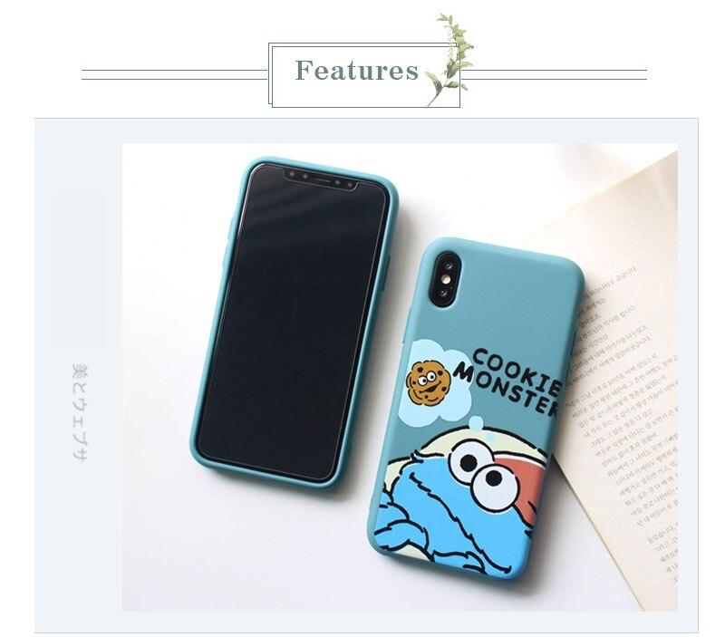 Sesame Street Case For iPhone 8 8plus 7 7 Plus Cases Silicone Phone Case For iphone 6 s 6s Plus X XR XS Max Cases Cover Coque    (12)