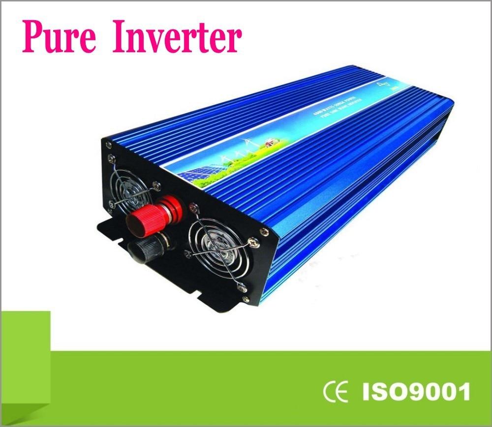Digital Volt Display AC Inverter  5000Watt / 5000W 12/24/48VDC to 110/220VAC 10000W Peak Pure Sine Wave Power Inverter p1500 dc 12v 24 volt to ac 110 volt 220v pure sine wave dc to ac power inverter 1500 watt
