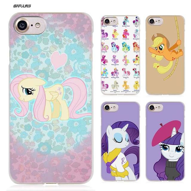 a07c6b334b14 BiNFUL my little pony Hard Clear Case Cover Coque for iPhone X 6 6s 7 8  Plus 5s SE 5 4s 4 5c