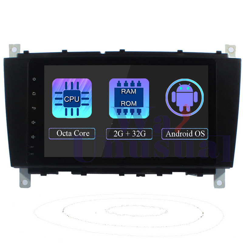 WANUSUAL 8Inch Octa Core Android Auto Stereo for <font><b>Benz</b></font> C-Class <font><b>W203</b></font> 2004 2005 2006 2007 Car <font><b>Radio</b></font> GPS <font><b>Navi</b></font> RDS 3G WIFI BT MAP image