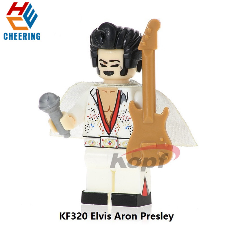 Single Sale Building Blocks Super Heroes Elvis Aron Presley Pennywise The Clown Figures Bricks Education Toys For Children KF320