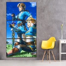 Wall Art HD Printed Poster Home Decor Framed 3 Pieces Game The Legend Of Zelda Breath Wild Canvas Painting Modern Artwork
