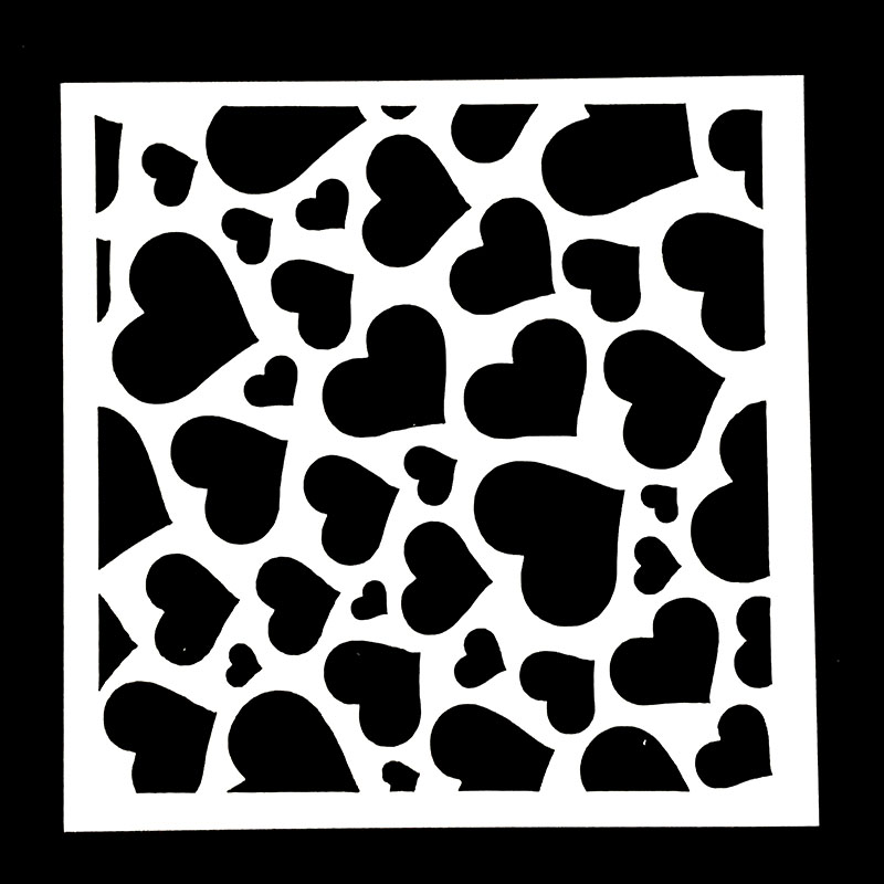 1PC Large Small Heart Shaped Reusable Stencil Airbrush Painting Art DIY Home Decor Scrap Booking Album Crafts