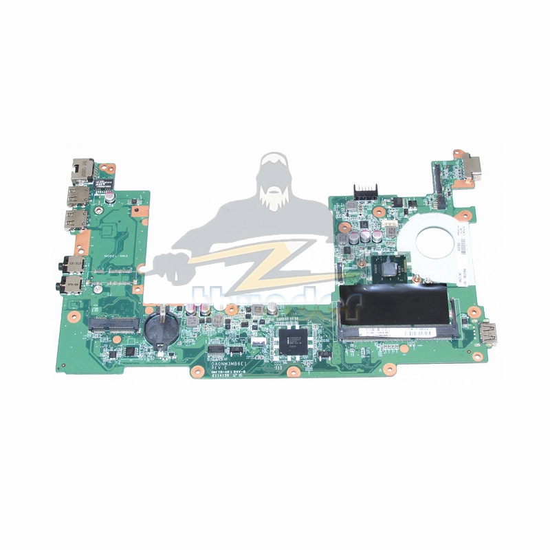 DA0NM3MB6E1 REV E PN 665230-001 for hp compaq mini 110-1104 laptop motherboard SR0DB N2600 CPU DDR3