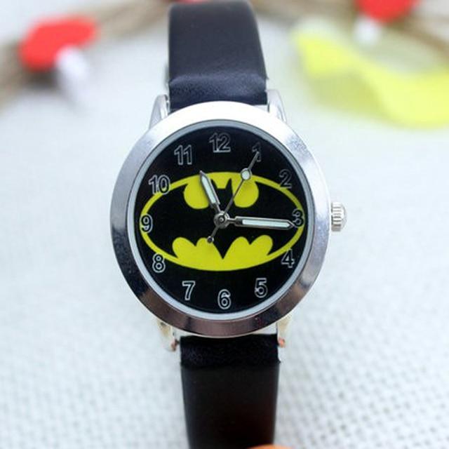 2018 Hot sale fashion Batman Children's cartoon watches purses Students Kids pur