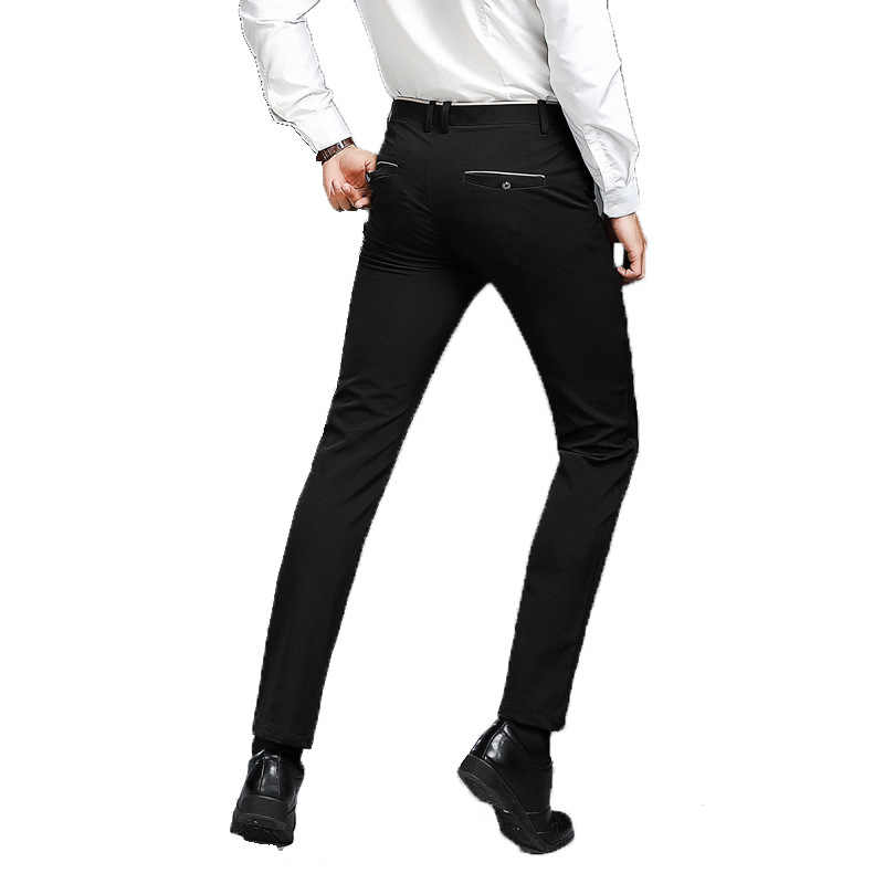 TECHOME Business Blazer Straight Dress Trousers black 28-38 2019 Formal Wedding Men high-grade Suit Pants Fashion Slim Fit