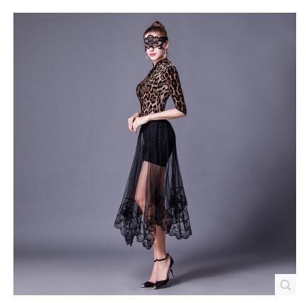 夏2016スクエア中空透視スカート黒弾性ウエストスカートセクシーな長いセクションレイメッシュガーゼスカート  グループ上の レディース衣服 からの スカート の中 1