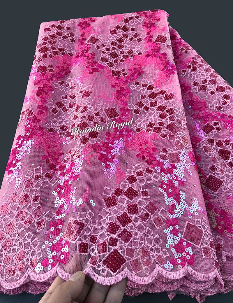 5 yards African French Lace fabric Nigerian tulle buba cloth original design far Better Quality than