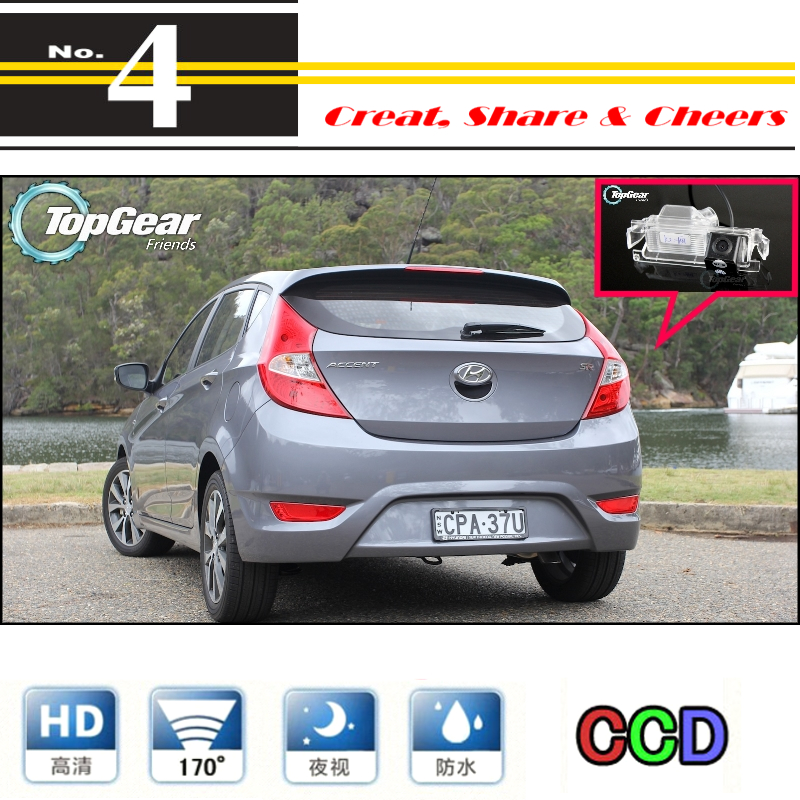For Hyundai Accent RB Blue Wit I25 Hatchback Car Camera High Quality Rear View Back Up Camera For PAL / NTSC | RCA Connector