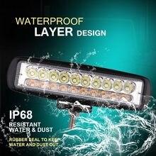 Nouvelle barre lumineuse led de travail de 6 pouces 12 V, projecteur de type lampe, conduit de Brouillard dfdf