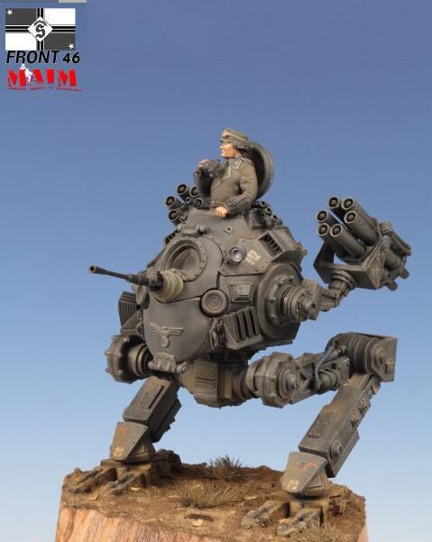 Unpainted Kit 1 35 fantasy armor soldier Battle Version Army figure Historical Resin kit miniature model