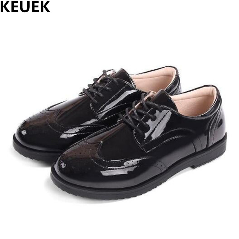 New Boys Leather Shoes Children Lace-Up Flats Casual Single Shoes Student Dress Black Performance shoes Kids Baby Toddler 019New Boys Leather Shoes Children Lace-Up Flats Casual Single Shoes Student Dress Black Performance shoes Kids Baby Toddler 019
