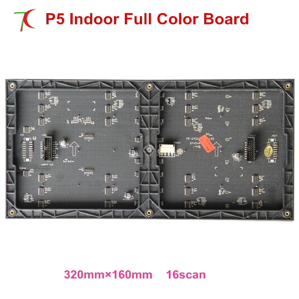 Cheapest P5 smd2121 indoor 16scan full color led board. 320*160mm,1200cdCheapest P5 smd2121 indoor 16scan full color led board. 320*160mm,1200cd
