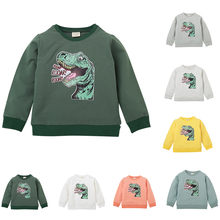 ARLONEET Teen Kid Boys Girls Cartoon Dinosaur Letter Sweatshirt kids long sleeve casual sport Tops Sweatshirts Outwear ZJ24(China)