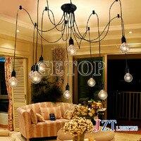 J miglior prezzo vintage lampadario mordern luce di soffitto per soggiorno diy cluster spider creativo camera da letto moda lampada droplight