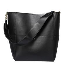 цены Luxury Handbags Women Bags Designer Fashion Female Shoulder Bags White Woman Tote Bucket Bags Black Genuine Leather High Quality