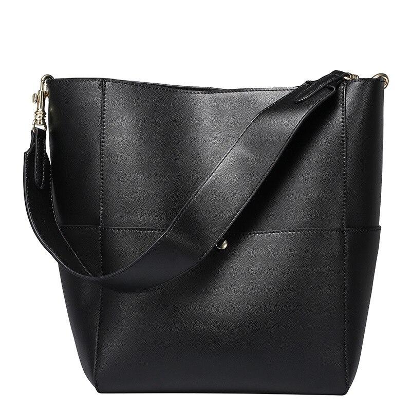 Sacs à main de luxe femmes sacs Designer mode femme sacs à bandoulière blanc femme fourre-tout seau sacs noir en cuir véritable de haute qualité