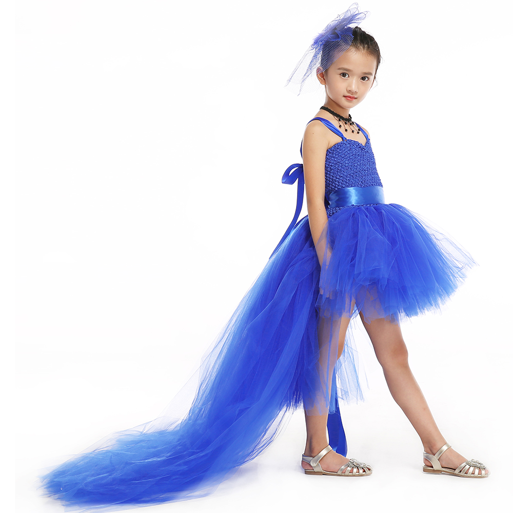Online get cheap girls bridesmaid dresses royal blue aliexpress elegant royal blue kids girls tutu dress flower girl bridesmaid wedding evening party dresses formal tutus ombrellifo Images