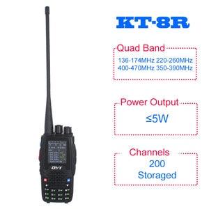 Image 2 - Qyt クワッドバンドハンドヘルド双方向ラジオ KT 8R 4 バンド屋外インターホン kt 8R uv 2 ウェイラジオ KT8R 色ディスプレイ 5 ワットトランシーバ