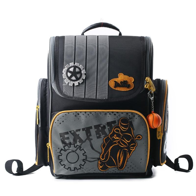 Delune Orthopedic Children School Bags For Girls 2017 Kids Backpack Monster High WINX Book Bag Princess Schoolbags Mochila