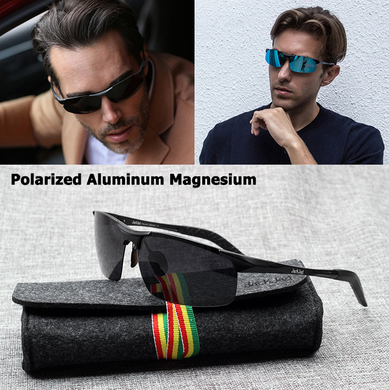 Image JackJad JJ8177 Aluminum Magnesium POLARIZED Aviator Style Sunglasses Men Classic Driving Brand Design Sun Glasses Oculos De Sol