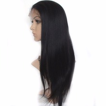 Virgin Peruvian Straight Full Lace Wig Human Hair Lace Front Wigs Unprocess Remy Hair Glueless Lace Wig With Baby Hair