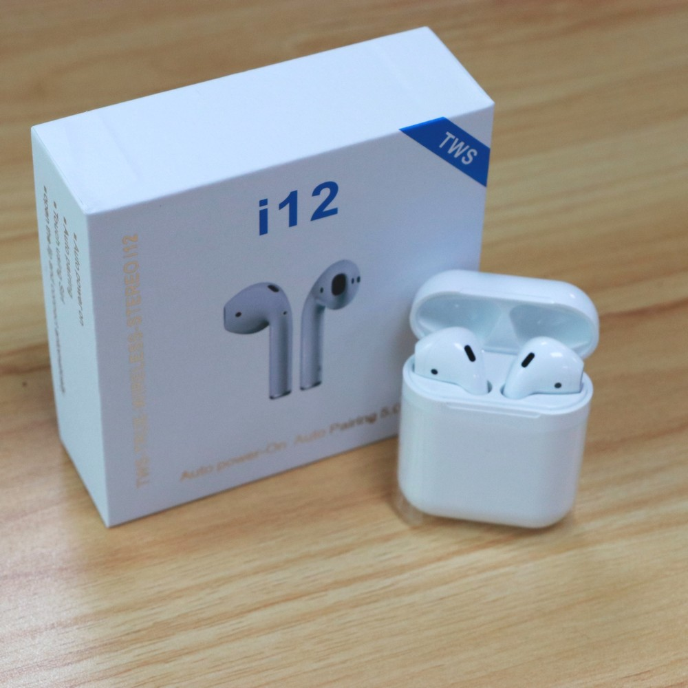 2019 New MINGGE i12 TWS Wireless Bluetooth 5.0 Earphone Smart Touch Earbuds i12tws Stereo Headsets For iPhone Android Phone