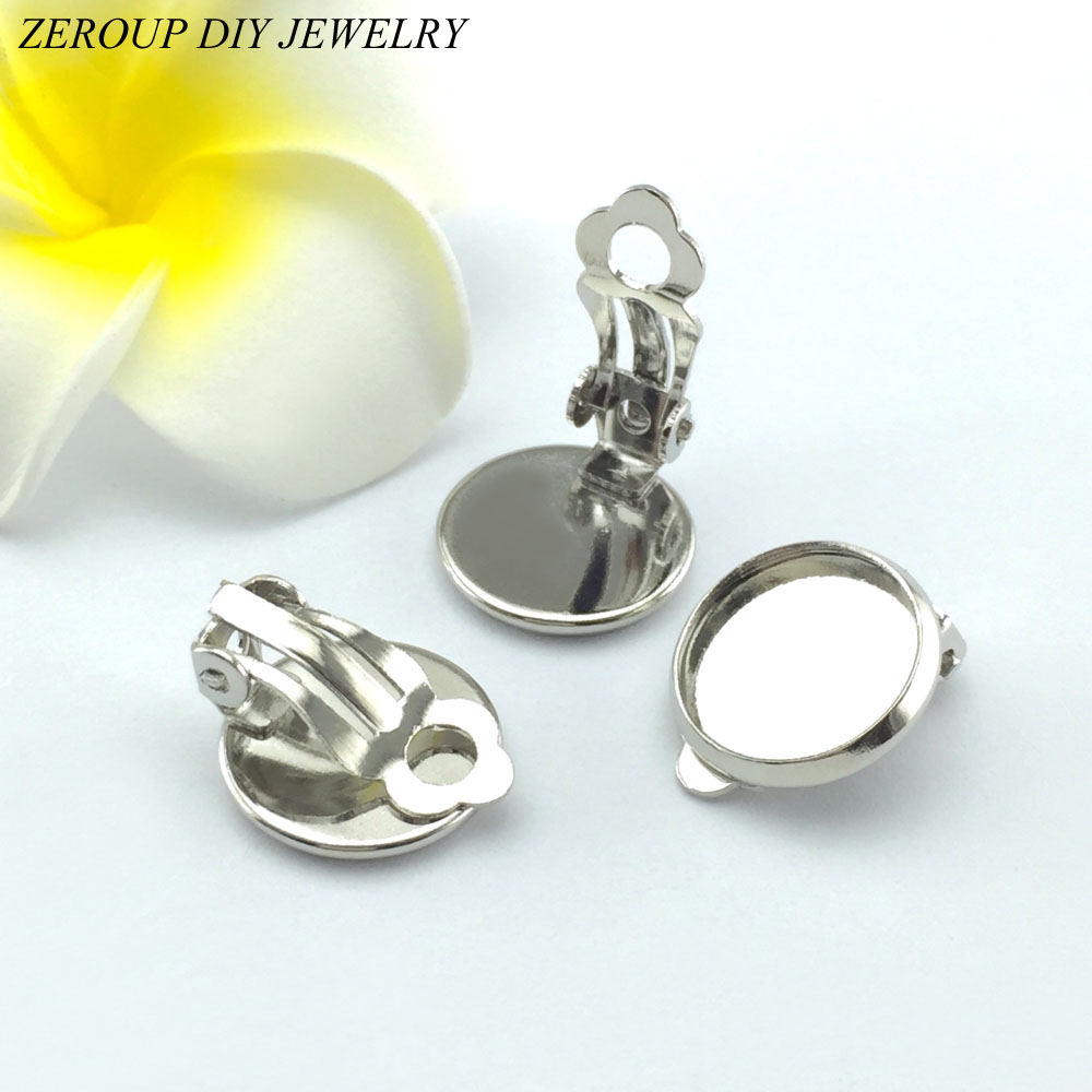 20pcs//lot 12 //// 16//18//20mm Argent Broche Pin Blank Cabochon Plateau Jewelry Findings