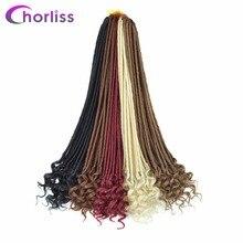 Chorliss 22 ' Вязание крючком Косы Faux Locs Синтетические твист наращивание волос Weave Вязание
