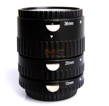 Meike MK-S-AF-B Metal Auto Focus AF Macro Extension Tube Set for Sony Camera цены