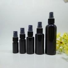 Купить с кэшбэком 10pcs 5pcs 20pcs  30ml,50ml PET Spray Bottles,All Black Mist Perfume Vials,1 OZ Empty Atomizer bottle,DIY Mini Sample container