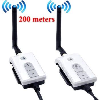 2.4G Sem Fio AV Transmissor e Receptor de Cabo do carro Para Ônibus Monitor de Vídeo do carro Caminhão Invertendo Rear View Camera Backup 200 m gama