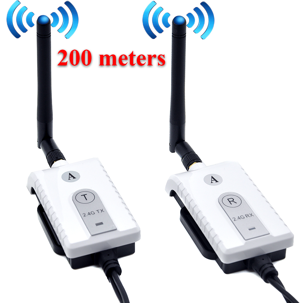 Car 2 4G Wireless AV Cable Transmitter and Receiver For Bus Car Video Monitor Truck Reversing