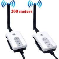 Car 2.4G Wireless AV Cable Transmitter and Receiver For Bus Car Video Monitor Truck Reversing Rear View Backup Camera 200m Range