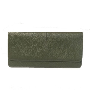 Image 3 - Genuine Leather Women Wallet Fashion Solid Color Coin Purse Multifunctional Cowhide Female Long Women Purses Zipper Card Holder