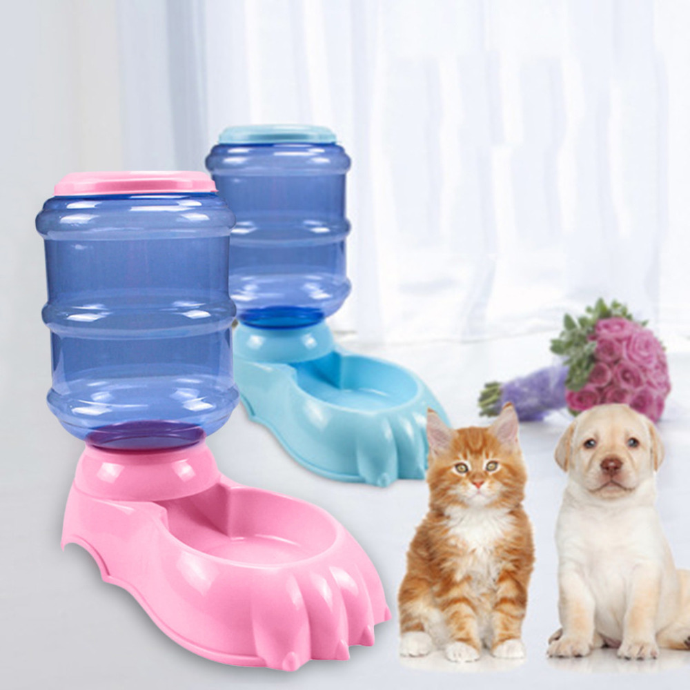 Free Shiping Automatic Pet Mascotas Water Food Feeder Pets Cat Bowl For Small Dog Cat  Dispensers 4 Times One Day 3.8L