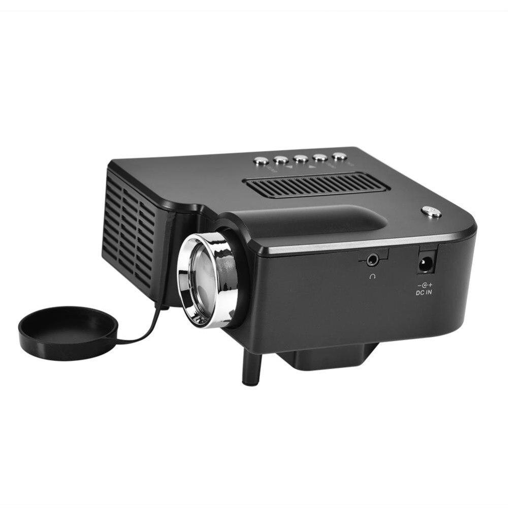Mini Portable LED Projecteur 1080 p HD Home Cinéma Privé 4: 3/16: 9 stéréo Effet Sonore Portable LED Projecteur US Plug
