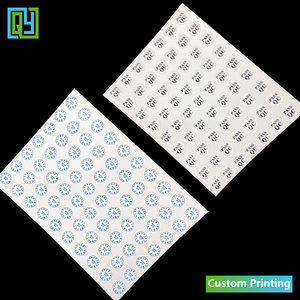 Image 5 - 1000pcs 10mm 5mm QC QS PASS eggshell sticker Month destructible Vinyl labels waterproof security seal warranty VOID mobile label