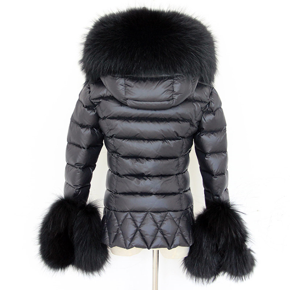 Aliexpress.com : Buy Women Winter Down Coat Girls Long Black Parka ...