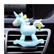 New Unicorn Air Outlet Perfume Clip Creative Car Conditioning Environmentally Friendly Resin Accessories