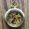 Retro Simple Roman Style Open Face Mechanical Hand Wind Pocket Watch Men Women Fob Chain Watch