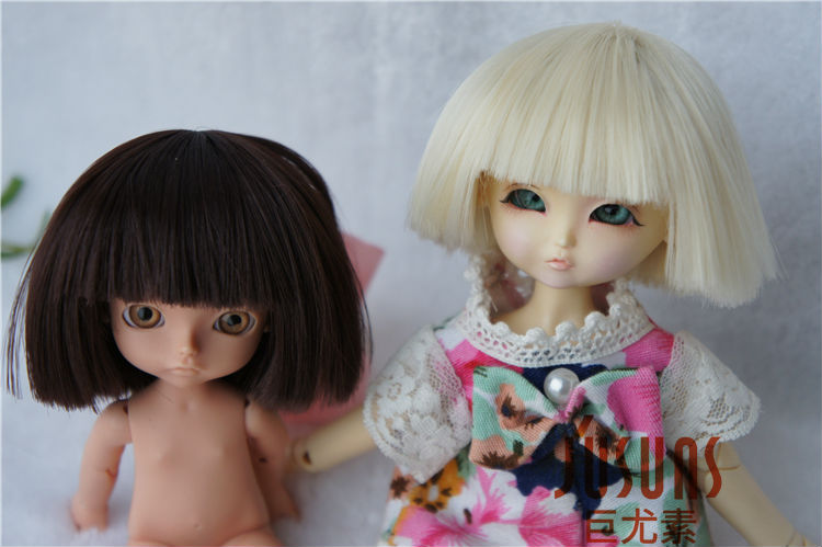 1/8 BJD wig Short BoBo doll wig 5-6inch Lati yellow doll accessories Heat resistance wigs мамуляндия комплект