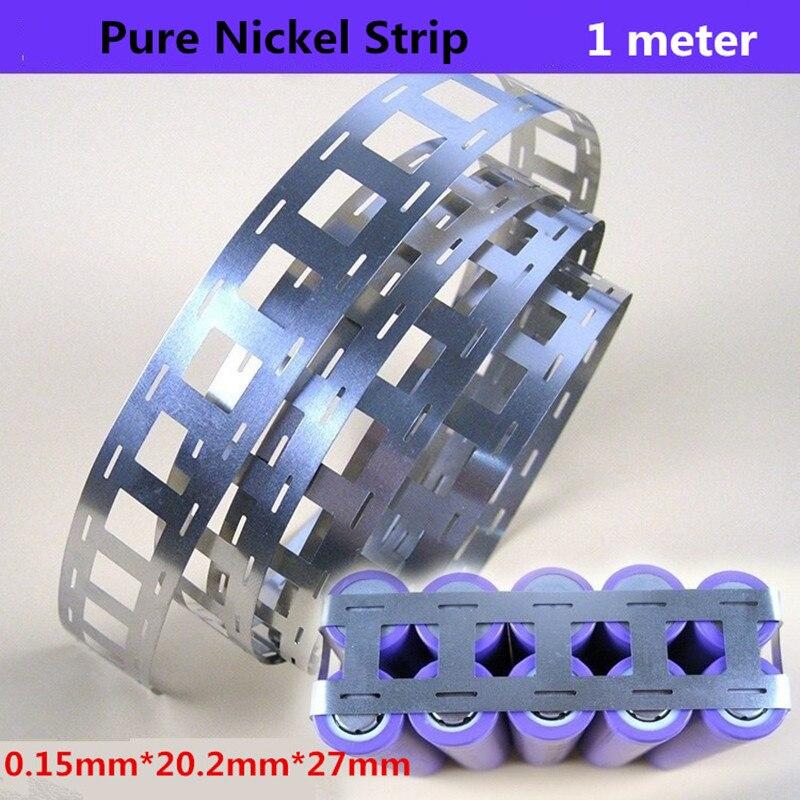 1meter 0.15*27mm Pure Nickel Strip 99.96% Lithium Battery Nickel Strips For 18650 Battery Pack 2P Spot Welding Nickel Belt