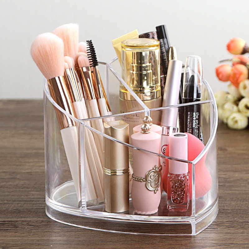 Tnukk Cosmetics receiver Desktop comb lipstick finishing transparent Arcleigh makeup eyebrow brush Cosmetics collection box