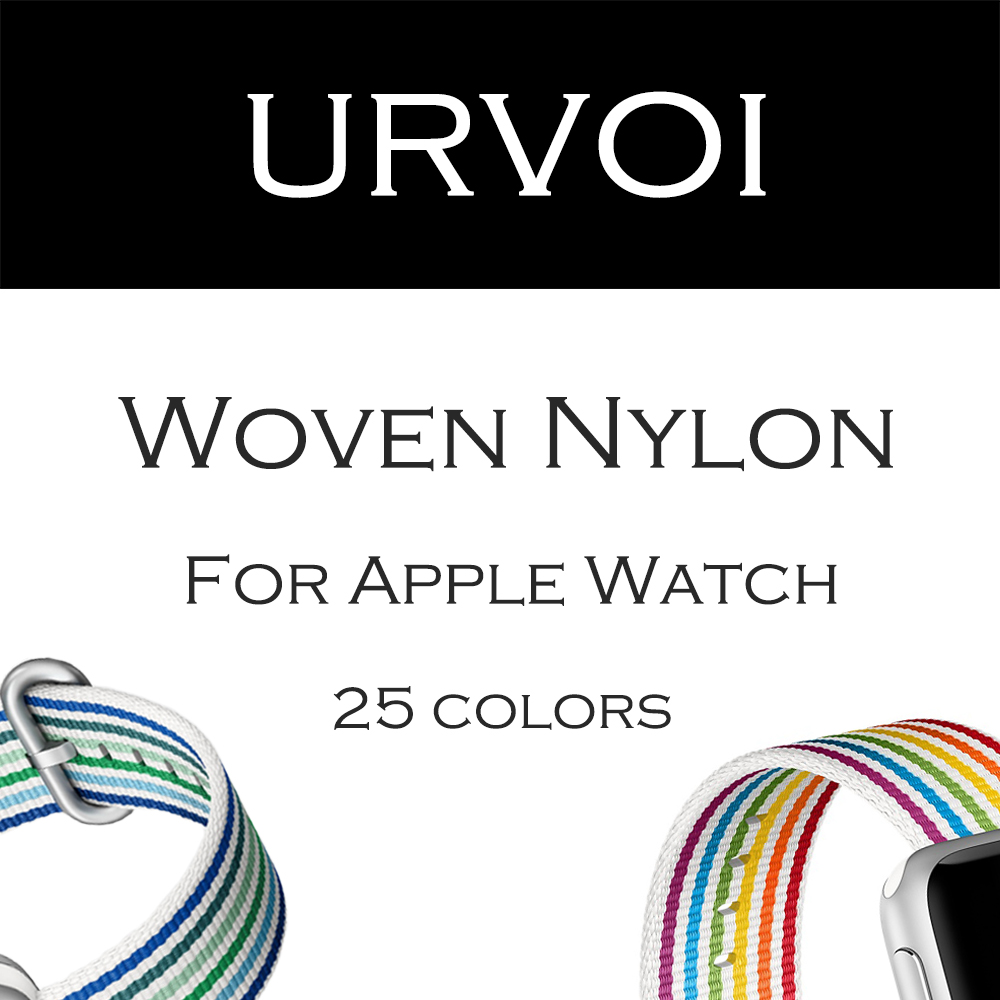 URVOI Spring 2018 woven nylon band for apple watch series 4 3 2 1 fabric-like feel strap for iWatch pride edition classic buckle все цены