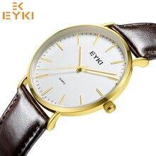EYKI 1035 Fashion Casual Quartz Watch Men Women 30m Waterproof Leather Strap Lovers Watches Clock Male 2019 New reloj pokemon shhors 2015 10m eyki reloj hombre 10000301