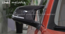 OEM M3 Style Carbon Fiber Car outside exterior rearview Mirror Caps covers For BMW 3 series